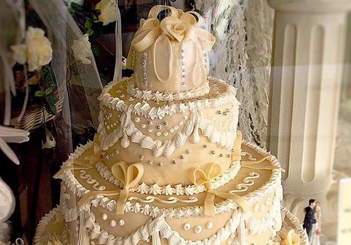 torta matrimonio vetrina 5 piani